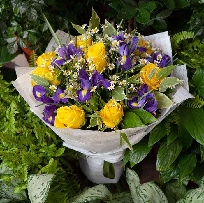 Популярное оформление цветов